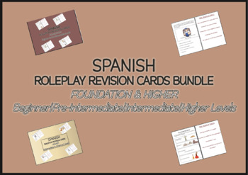 SPANISH ROLEPLAY REVISION CARDS BUNDLE Foundation & Higher