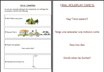 SPANISH ROLEPLAY REVISION CARDS  Beginner & Pre-Intermediate Levels