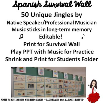 SPANISH ROOM DECORATIONS - 50 MUSICAL SURVIVAL EXPRESSIONS