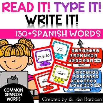 SPANISH Read it! Type it! Write it!