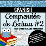 SPANISH - Reading Comprehension Short Stories SET #2 - Com