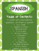 SPANISH - Reading Comprehension Stories and Questions