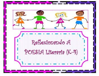 SPANISH Reflection Literary Poetry Organizer (K-4)