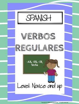 SPANISH Regular -AR -ER -IR Verb Dice Game