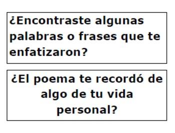 SPANISH-Español Tarjetas en Poesia-Responding to Poetry Task Cards