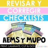 Spanish Writing Checklist - AEMS y MUPO! Revise & Edit!