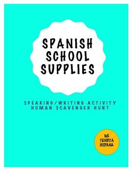 SPANISH SCHOOL SUPPLIES HUMAN SCAVENGER HUNT