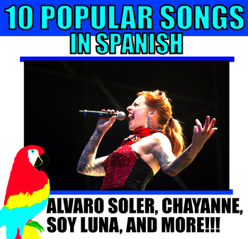 SPANISH SONGS PACK 7 SONGS WORKSHEETS IN SPANISH FOR ANY LEVEL!