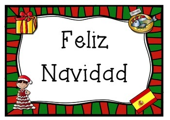 SPANISH SPAIN  merry christmas poster   Feliz Navidad