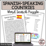 SPANISH-SPEAKING COUNTRIES Word Search Puzzle
