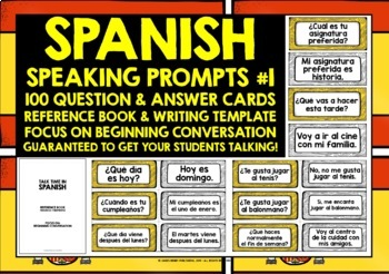 SPANISH SPEAKING PROMPTS - 100 CARDS & REFERENCE BOOKLET (1)
