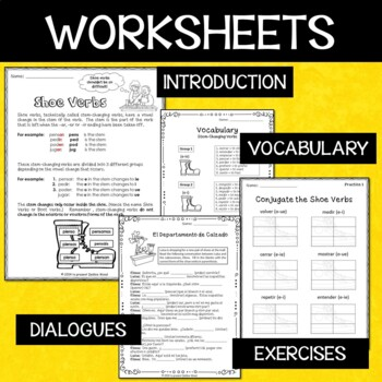 SPANISH STEM CHANGING VERBS  BUNDLE