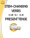 Spanish Stem Changing Verbs Present Tense O-UE E-I E-IE.