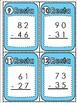 SPANISH SUBTRACTION TASK CARDS / Tarjetas de resta- 2 dígitos con reagrupación