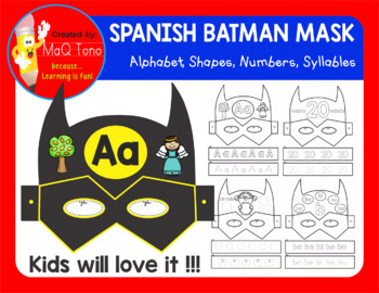 SPANISH SUPERHERO BATMAN MASK
