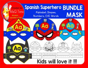 SPANISH SUPERHERO MASK BUNDLE