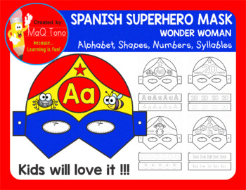 SPANISH SUPERHERO WONDER WOMAN MASK