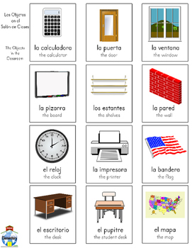 SPANISH: School Supplies and Objects Vocabulary