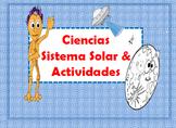 SPANISH Science Lesson-Sistema Solar & Actividades/Projecto/Escritura Actividad