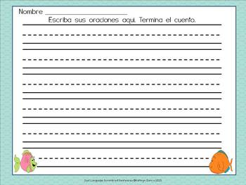 Spanish Scrambled Sentences for Dual Language/Bilingual: FREE 'Los Peces' (Fish)
