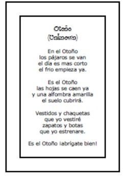 SPANISH Seasonal Poems Bundle II (Cuatro Poemas 4 Diferentes Estaciones)
