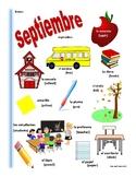 SPANISH September Themed Vocabulary Bilingual