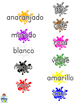 SPANISH: Speaking Color Chart