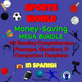 SPANISH Sports World Reading Passages, Questions, & More M