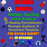 SPANISH Sports World Reading, Questions, & More for Google