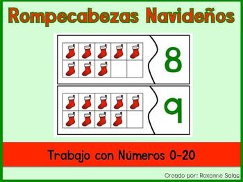 SPANISH Stocking Number Puzzles