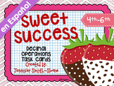 SPANISH Sweet Success Word Problem Task Cards - Color and