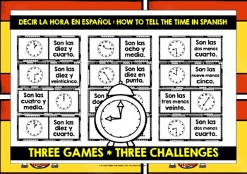 SPANISH TELLING TIME DOMINOES 1