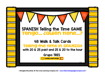 SPANISH TELLING THE TIME GAME (3) - I HAVE, WHO HAS?
