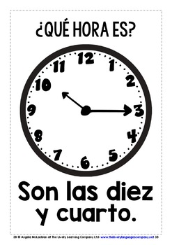 SPANISH TELLING TIME FLASHCARDS / POSTERS (1)