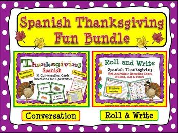 SPANISH THANKSGIVING FUN BUNDLE  (El Día de Acción de Gracias)