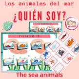 SPANISH THE SEA ANIMALS: LOS ANIMALES DEL MAR. Guess Who? GAME. Quién es quién