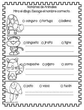 Español : Nombres de Animales