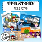 """SPANISH TPR STORY """"EMI Y AKIO"""" - ser/estar"""