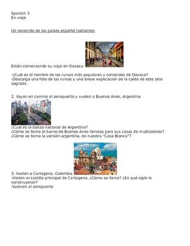 SPANISH TRAVEL ACTIVITY-AMAZING RACE