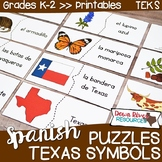 SPANISH Texas Symbols Puzzles | Símbolos de Texas Matching Puzzles | Texas Unit