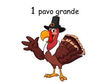SPANISH Thanksgiving Counting