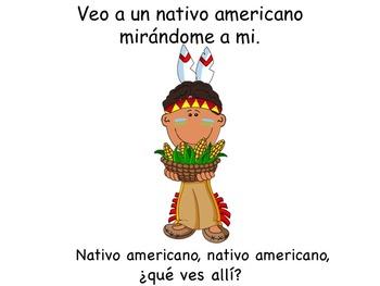 SPANISH Thanksgiving Pilgrim
