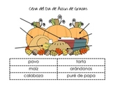 SPANISH Thanksgiving Vocabulary-Labeling