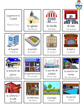 SPANISH: Town and Shopping
