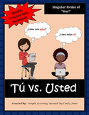 """DISTANCE LEARNING SPANISH """"Tu vs. Usted"""" Activities"""