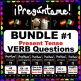 SPANISH Regular Verbs Question BUNDLE - HIGH Frequency Present Tense Verbs