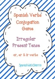 SPANISH VERBS CONJUGATION GAME- Irregular Present Tense