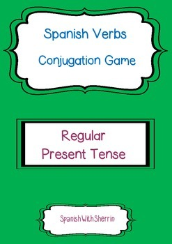 SPANISH VERBS CONJUGATION GAME- Regular Present Tense