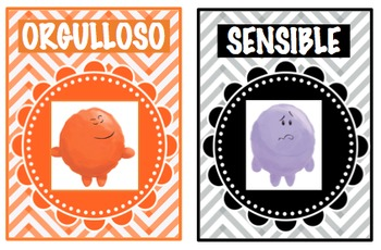 SPANISH VERSION - Emotion Posters with Pictures and Description
