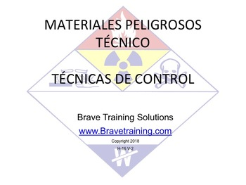 SPANISH VERSION HAZMAT TECHNICIAN CONTROL TECHNIQUES PPT TRAINING PRESENTATION